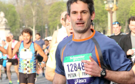 Peter au marathon de Paris